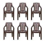 Nilkamal Set of 6 Chairs (Weather Brown)