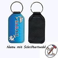 Schlüsselanhänger mit Namen Delfin Motiv / Kunstleder / einseitig bedruckt / Personalisierbar / Geschenkidee zur Einschulung / Schriftartwahl