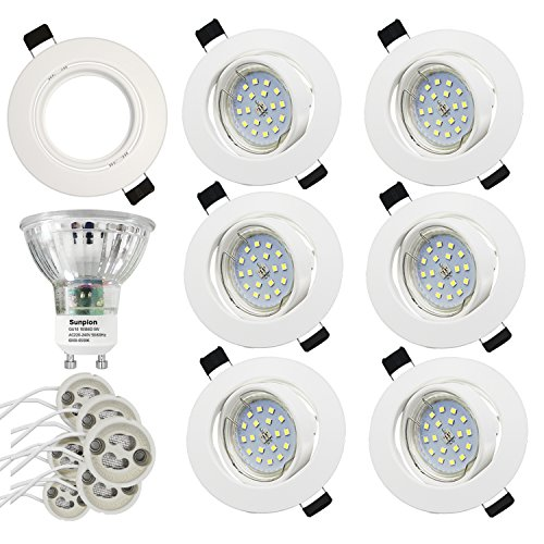 Foco Empotrable | LED Luz de Techo 5W Equivalente a Incandescente 60W...