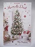 Unbekannt Atemberaubende XL to A Lovely Mum & Dad Grußkarte Weihnachten