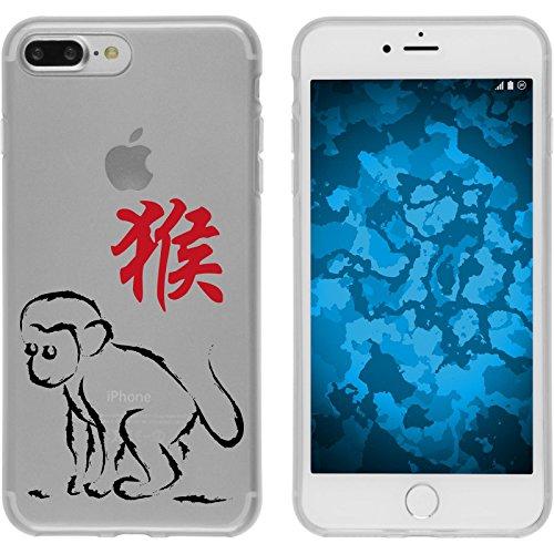 PhoneNatic Case für Apple iPhone 8 Plus Silikon-Hülle Tierkreis Chinesisch M12 Case iPhone 8 Plus Tasche + 2 Schutzfolien Design:09