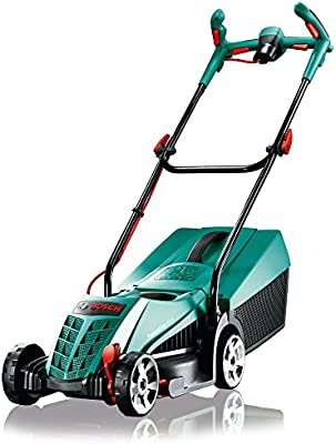 Bosch Rotak 32 Ergoflex - Máquina cortacésped eléctrica inalámbrica (1200 W), color verde