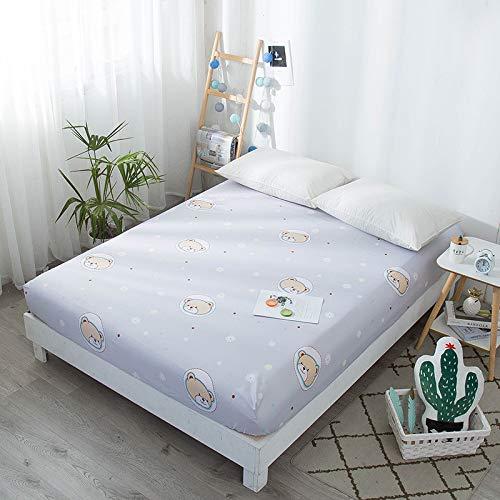 Hllhpc per Il Nordic Ins Wind Sheets Beauty Bed Cover Copertina Letto Singolo 7 180 * 200 + 25Cm