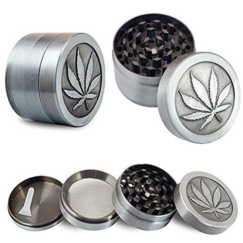 Househome Trituradora de Tabaco, Metal Trituradora de Tabaco Humo de Mano Herbal Herb Grinder Mini 4 Capas Molinillos portátiles Tamiz