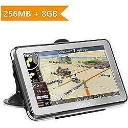 """GPS para Coches, Hieha 5"""" Navegador GPS 8GB Pantalla Táctil De Alta definición, Mapa de 48 Países, Actualizaciones Gratis de mapas de por Vida"""