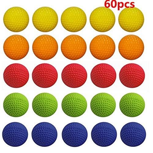 TOYANDONA 60 Stück Bouncy Balls Bulk Foam Bullet Ball Ersatz Nachfüllpackung für Rivalen Zeus/Apollo/Khaos/Atlas/Artemis Blasters (Bulk Bouncy Balls)