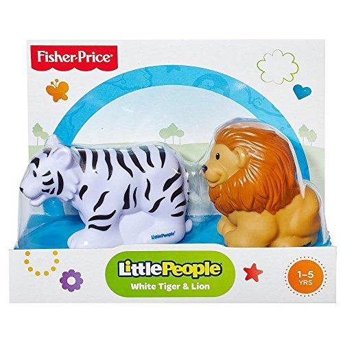 Fisher-Price Little People Zoo Animal - Weißer Tiger und Löwe