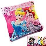 Disney Princess Reisekissen Kinderkissen Kopfkissen Kissen, Fleece 30 x 28 cm