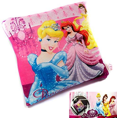 Preisvergleich Produktbild Disney Princess Reisekissen Kinderkissen Kopfkissen Kissen, Fleece 30 x 28 cm