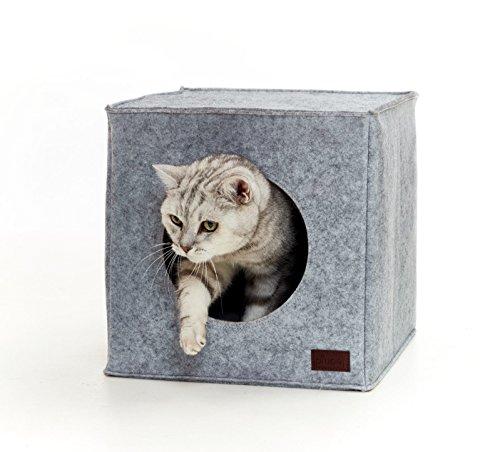 Premium Cama de gato by PiuPet® incl. cojín | Casa de gato...