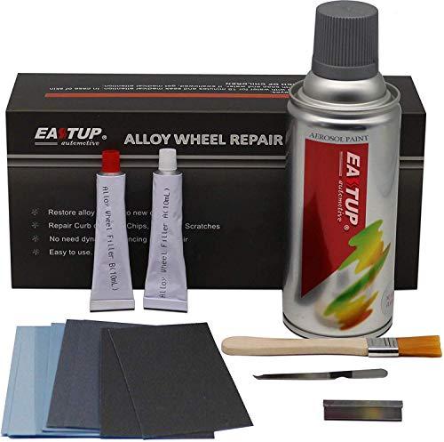 EASTUP 80003 Auto Alufelgen Reparatur Set Felgendoktor Beseitigung von Kratzer (Farbe: Silber)