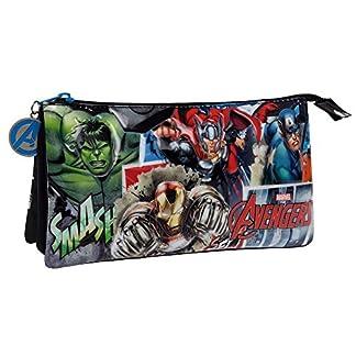 Marvel Avengers Street Neceser de Viaje, 1.32 litros, Color Azul