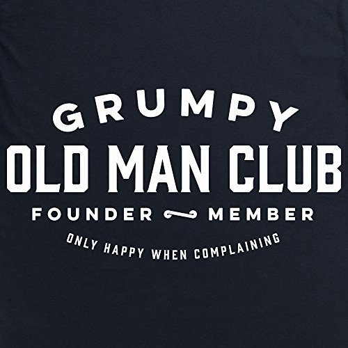 Grumpy Old Man Club T-Shirt, Herren Schwarz