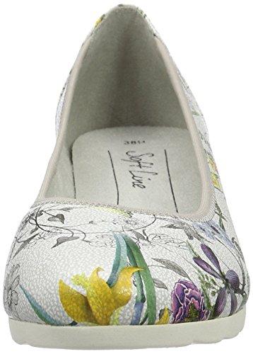 Softline 22364, Scarpe con zeppa Donna Multicolore (Flower Comb. 908)