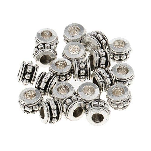 Silber Haar Perlen Dreadlocks Perlen Haar Bart Dekorationen Flechten Zöpfe Deko Perlen Haarschmuck ()