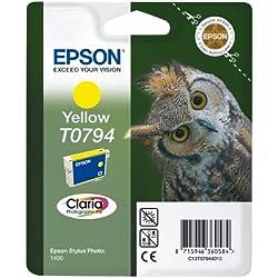 Epson C13T07944010 Cartouche d'encre d'origine Claria jaune pour SP 1400 Amazon Dash Replenishment est prêt