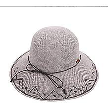Sombrero de dama del temperamento Sombrero de mujer Sombrero de paja  Sombrero de verano Sombrero de playa Casual Sombrero de playa Sombrero de  playa ... 6f5d7b6f308