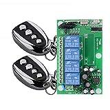 BWSS 220V Fernschalter, 4CH Kanal Funkfernschalter 433MHZ RF Funkfernbedienung Lerncode Fernbedienung schaltet