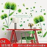 ALLDOLWEGE Einfach Die Wallpaper Wallpaper selbstklebender Wand Kunst sticker aufkleber Schlafzimmer Bettsofa im Wohnzimmer Wandschmuck, der Grüne Kobold