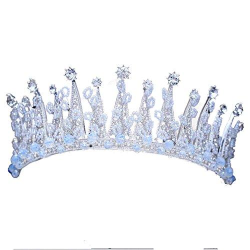 GWQ Boda Nupcial Corona Grande Diamante Perla Cristal Tocado Album De Fotos Accesorios De Boda