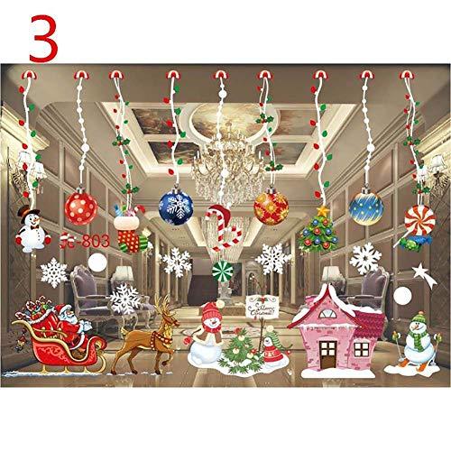 Surenhap Natale Vetrofanie Decorazione Fai-da-Te Adesivi murali Fiocco di Neve Adesivi Natalizi per Porte, vetrine, vetrine, Frontali in Vetro, pareti piastrellate (Decorazioni Natalizie 3)