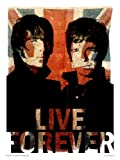 onthewall Oasis Liam And Noel Live Forever Poster Stampa Artistica di Parrucca (OTW50)