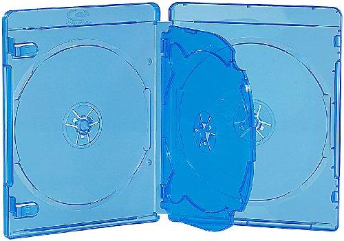 Unbekannt PEARL Bluray Hülle: Blu-ray Soft-Hüllen blau-transparent im 10er-Pack für je 4 Discs (Blu-ray Jewel Box)