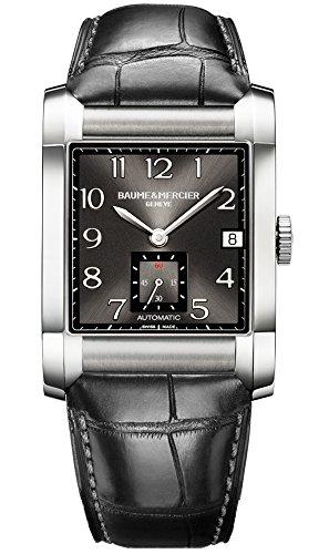 Baume & Mercier 10027 - Reloj para hombres, correa de cuero color negro