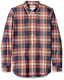 Goodthreads - Slim-fit Long-sleeve Plaid Oxford - Chemise et Carreaux - Homme - Bleu (Navy Red Large Plaid Nrd) - Taille: L