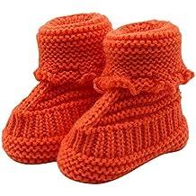 Bebé ReciéN Nacido Chico Chica Zapatos de Ganchillo,logobeing Tejido de Punto Encaje Profesional Artesanal
