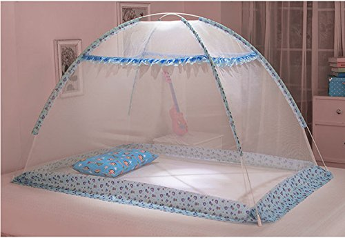 Butterme Baby Kid Children Nursery Bed Crib Mongolia Pack Folding Cot Mosquito Net Yurt with Stand (90*140cm)