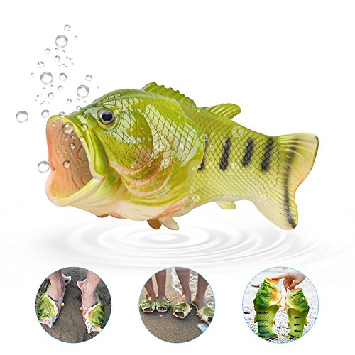 Pantofole, unisex divertente pesce animale pantofole spiaggia sandali pantofole da bagno, spiaggia da piscina doccia infradito scarpe, silicone, 42-43