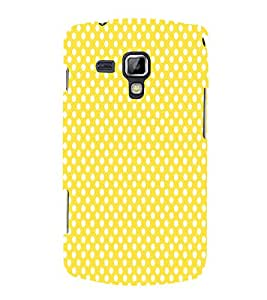 Haldi Yellow Dots 3D Hard Polycarbonate Designer Back Case Cover for Samsung Galaxy S Duos S7562