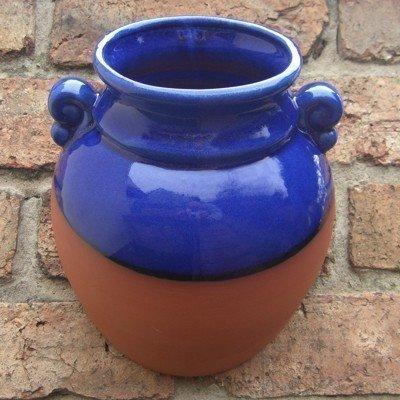 terracotta-hanging-urn-wallpot-blue-glaze