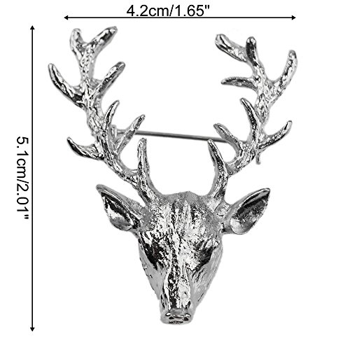 3-for-2-sale-gun-metal-silver-stag-deer-brooch-pin-for-jacket-or-collar-unique-gift-mens-womans-unis