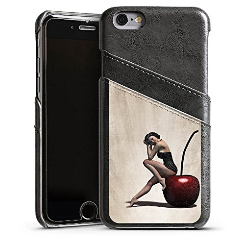 Apple iPhone 5s Housse Outdoor Étui militaire Coque Pin up Vintage Rétro Collection Femme Étui en cuir gris