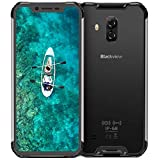 Blackview BV9600 Smartphone Étanche Débloqué 4G AMOLED de 6,2 pouces, Helio P70 Android 9.0, Batterie 5580mAh, 4Go + 64Go, Caméra 16MP + 8MP, IP68 / IP69K Téléphone Portable Incassable, Global Version