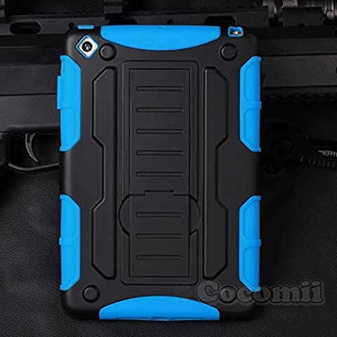 iPad Mini 3 / 2 / 1 Case, Cocomii® [HEAVY DUTY] iPad Mini 3 / 2 / 1 Robot Case **NEW** [ULTRA FUTURE ARMOR] Premium Shockproof Kickstand Bumper Case [MILITARY DEFENDER] Full-body Rugged Dual Layer Hybrid Protective Cover Bumper Case [COCOMII WARRANTY] ::: The Ultimate Protection from Drops and Impacts for your Apple iPad Mini 1st, 2nd, and 3rd Generation (Black/Blue) ::: ★★★★★