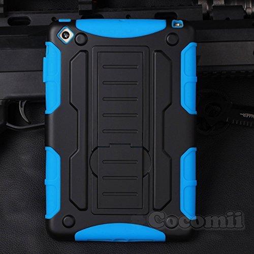 iPad Mini 3 / 2 / 1 Schutzhülle, Cocomii® [HEAVY DUTY] iPad Mini 3 / 2 / 1 Robot Case **NEUE** [ULTRA ZUKUNFT RÜSTUNG] Premium Hochwertige Ständer Hülle [MILITARY DEFENDER] Voller Körper Robuste Dual Layer Hybrid Schutzabdeckung Cover Bumper Case [COCOMII GARANTIE] ::: Der Ultimative Schutz Vor Stürzen Und Auswirkungen Für Ihr Apple iPad Mini 3 / 2 / 1 ::: ★★★★★ (Black/Blue) (Zwei Blue Pocket-light)