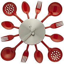 Amazonfr Horloge Cuisine Rouge Homy