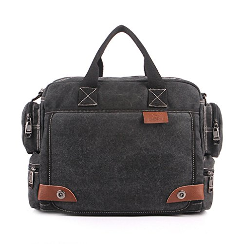 E-Bestar Unisex Canvas Tasche Herren Handtasche Schultertasche Umhängetasche Outdoor Tasche Canvas SLING BAG Uni Handtasche schwarz