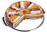 Chg 14020-07 - Bandeja para tartas y conservación de alimentos (acero inoxidable, incluye dos tapas transparentes de 7 y 11 cm de alto)