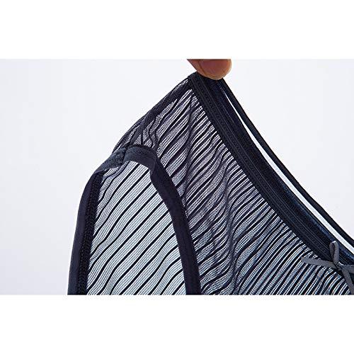 Haodou String mit Spitze Damen Unterhose Unterwäsche Reizvolle Wäsche durchsichtige Tanga G-Schnur Schlüpfer Damenwäsche Dessous (Blau-M) - 7