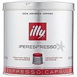 Illy Metodo Iperespresso Espresso-Kapseln, normale Röstung, Dose mit silber / rotem Deckel, 21 Kapseln (1 x 140,7g)