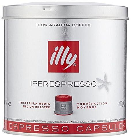 Illy Metodo Iperespresso Espresso-Kapseln, normale Röstung, Dose mit silber / rotem Deckel, 21 Kapseln (1 x