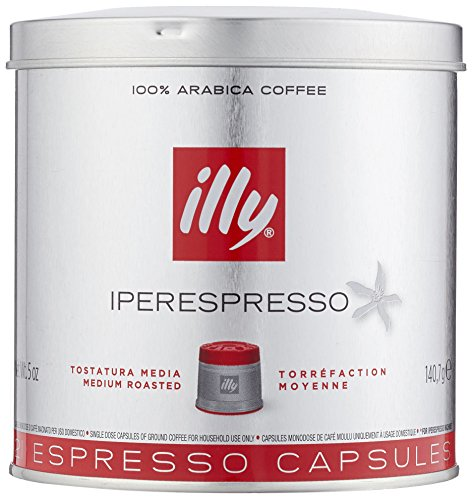 Illy Metodo Iperespresso Espresso-Kapseln, normale Röstung, Dose mit silber / rotem Deckel, 21 Kapseln (1 x 140,7g) Lily Kaffee