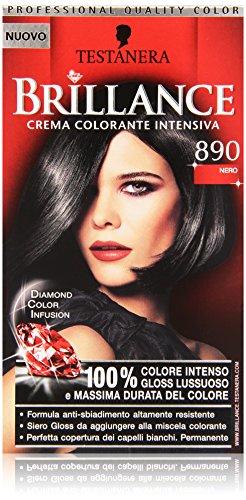 Testanera - Brillance, Crema Colorante Intensiva, 890 Nero