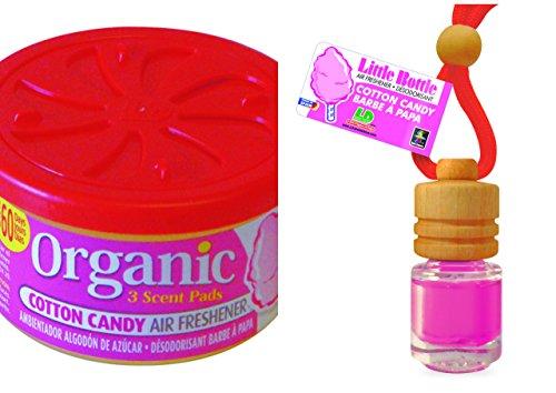 Duft Duo Cotton Candy - Zuckerwatte. 1 x Organic Scent Duftdose + 1 Little Bottle Duftflakon Lufterfrischer -