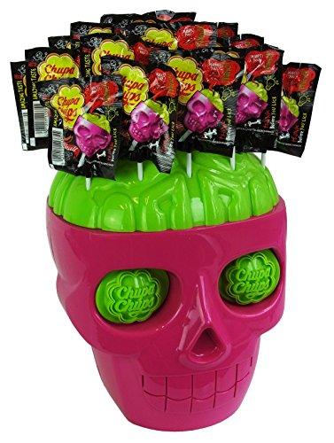 n Totenkopf mit Horror Lutschern, 1er Pack (1 x Totenkopf mit 45 Lutschern im Hirn) (Halloween Süßigkeiten)
