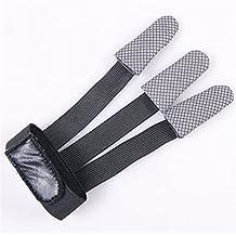 Dealglad® Tiro con arco 3dedos guantes de disparar flecha arco caza Recurvo Finger Support pantalla